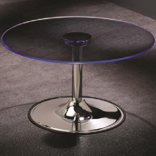 $150 LED Coffee Table with Chrome Base - NEW