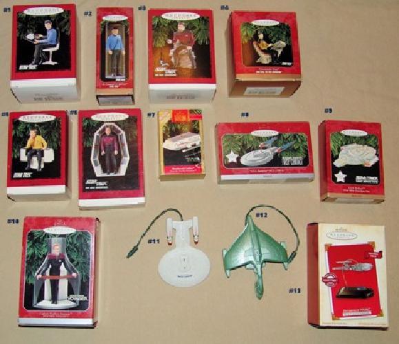 $150 Lot of 13 Star Trek Hallmark Ornaments