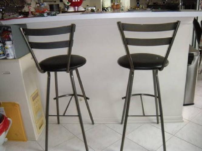 $150 Metal/Leather Bar stool