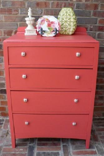 $150 OBO Antique Chest of Drawers, New Paint, Cute Coral, New Hardware