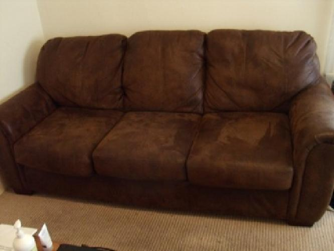 Attrayant $150 OBO Brown Microsuede Couch
