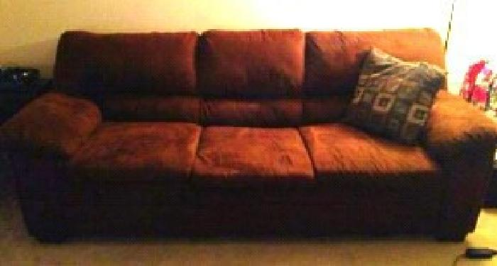 $150 OBO Large Brown Suede Sofa
