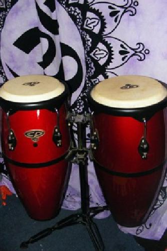 $150 OBO Red CP LP Congas with stand