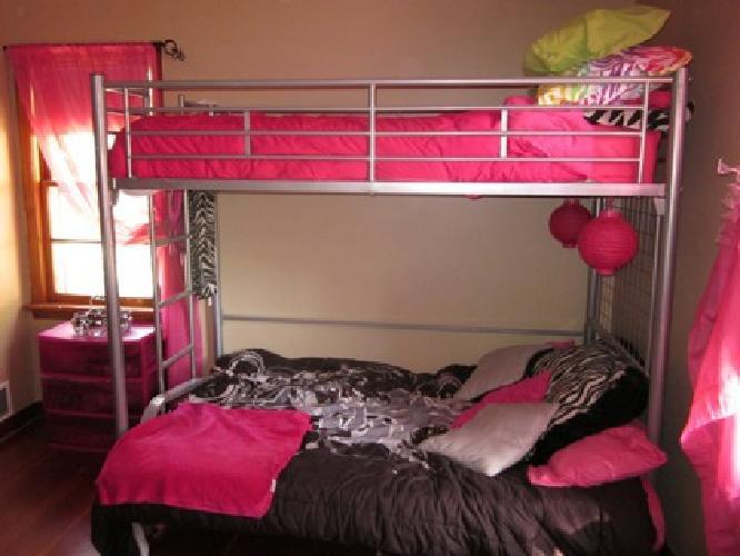 $150 OBO Twin loft bed with desk attachment