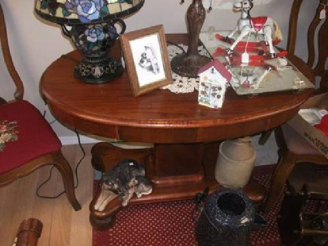 150 Oval Parlor Table With Drawer For Sale In Yankton South Dakota Classified