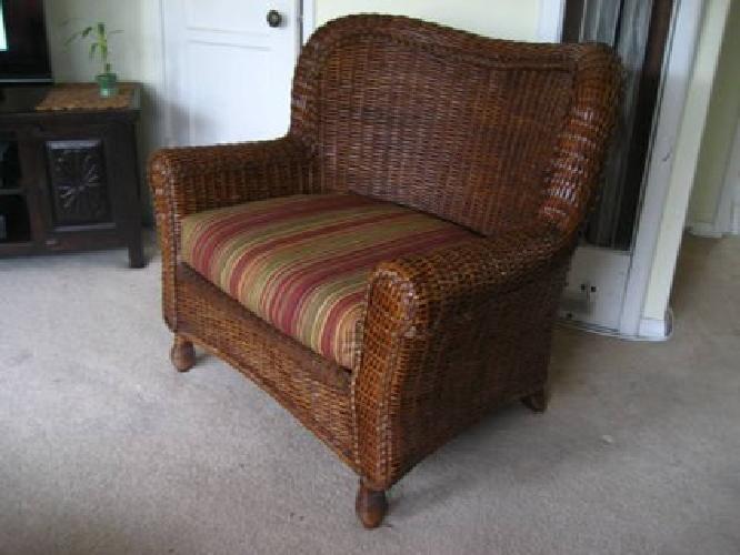 150 Oversized Wicker Indoor Outdoor Chair For Sale In