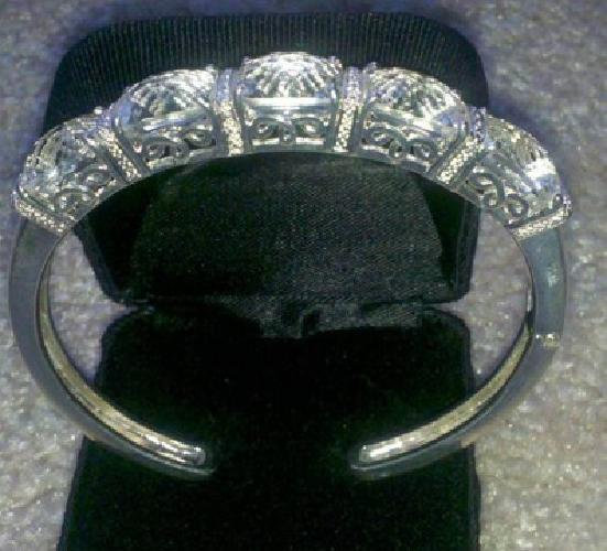 $150 sterling silver and crystal quartz bracelet