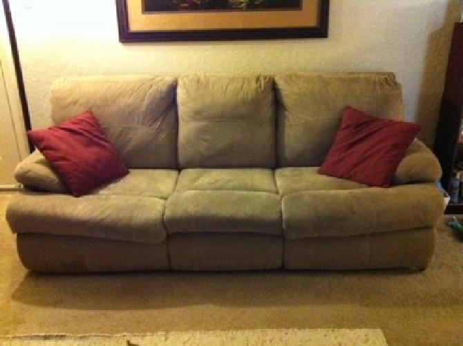 $150 Tan Microfiber Sleeper Sofa