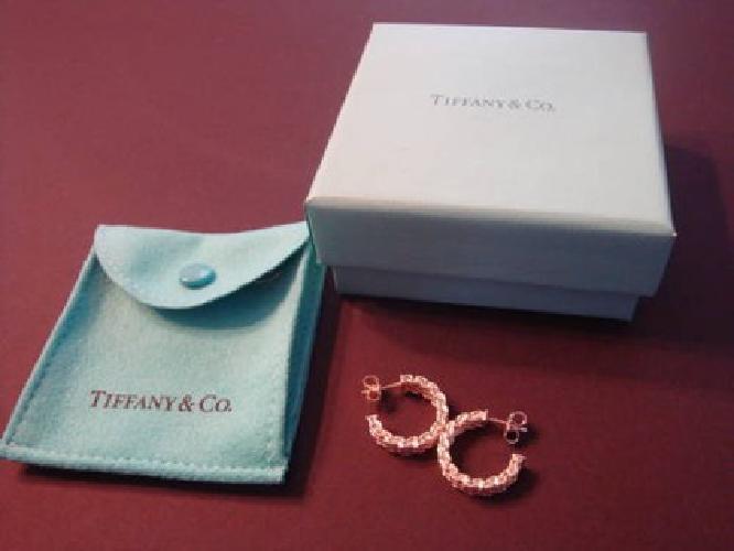 $150 Tiffany Somerset Small Mesh Hoop Earrings