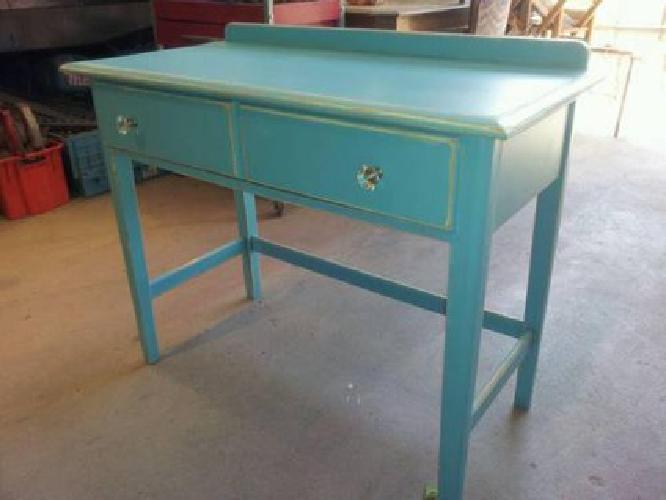 150 Vintage Teal Vanity Desk  150 Vintage Teal Vanity Desk for sale in Ojai  California. Vanity Desk For Sale