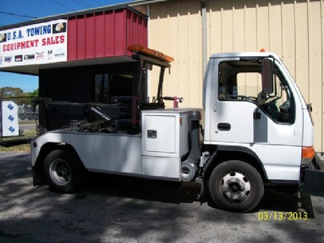 15 000 2005 isuzu npr wrecker twin line jerr dan tow truck for sale in tampa florida. Black Bedroom Furniture Sets. Home Design Ideas