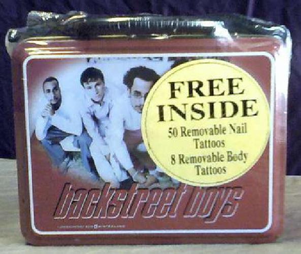 $15 2000 Backstreet Boys Dark Red Lunchbox (Sealed In Plastic)