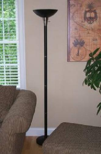 $15 Black Floor Lamp with Silver Accents