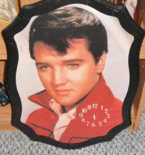 $15 Elvis Plaque Wall Clock