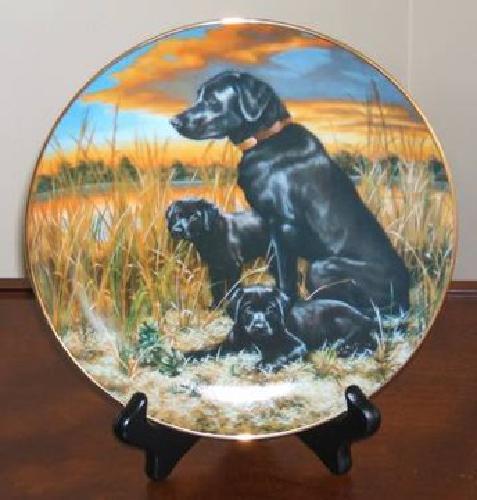 $15 Labrador Retrievers Collectible Plate by Robert Christie