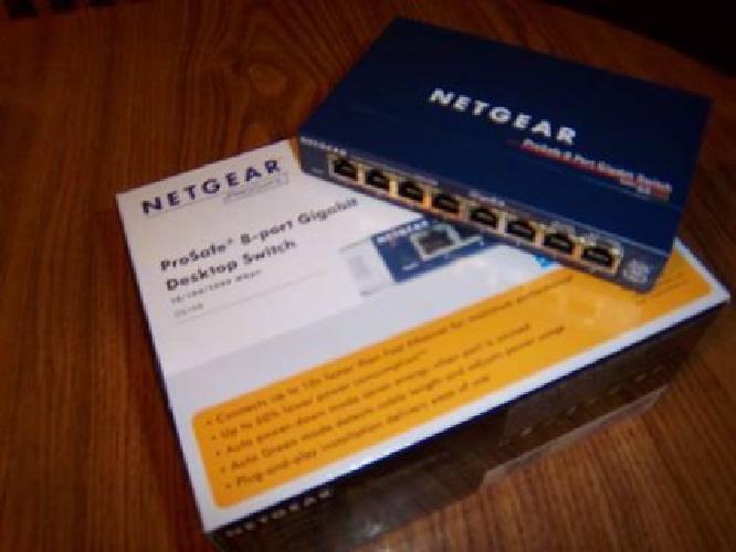 $15 Netgear ProSafe 8 Port Gigabit Switch GS108