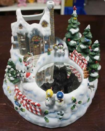 15 Partylite Christmas Snowman Village Music Box