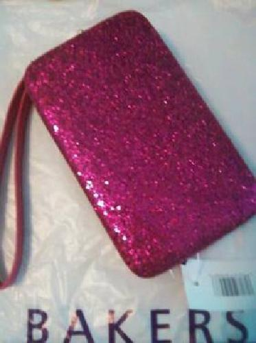$15 pink print mini-clutch