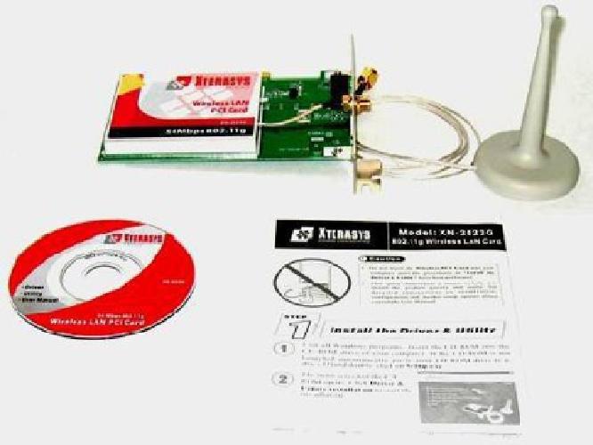 $15 Wireless PCI LAN card ? 54 bps - 802.11g - Model Xterasys XN2525G