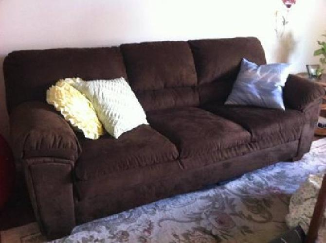160 very new brown suede couch for sale in ridley park for Suede couches for sale