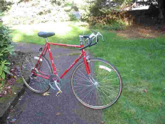 Vintage Schwinn Fahrradsitz rot