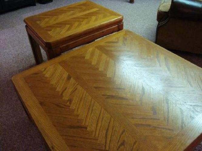 165 Solid Wood 3 Piece Table Set 1 Cocktail 2 End Tables