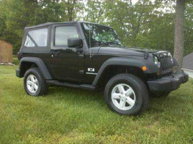 $16,000 2007 Jeep Wrangler X, 4x4, Black, 6 Cyl, Automatic, MD Inspected