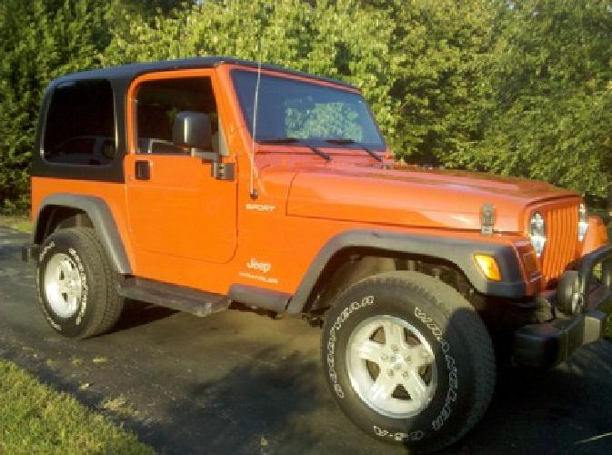 $16,800 2006 Jeep Wrangler Sport 4x4, Automatic 4.0l 6 Cyl, Very Clean, MD Inspected