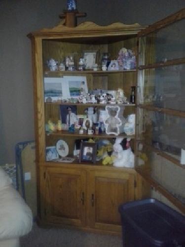 $175 Oak Corner cabinet