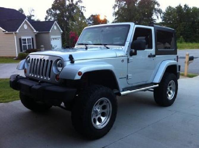 18 000 2007 jeep wrangler sahara 4x4 silver 50k mi for sale in boiling springs south carolina. Black Bedroom Furniture Sets. Home Design Ideas