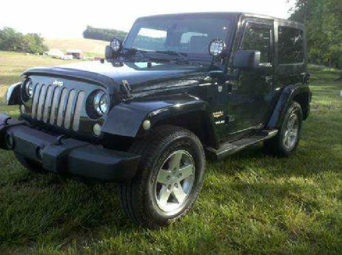 $18,500 2007 Jeep Wrangler Sahara 4x4, Black, Automatic, 3.8l 6cyl, 76k MI