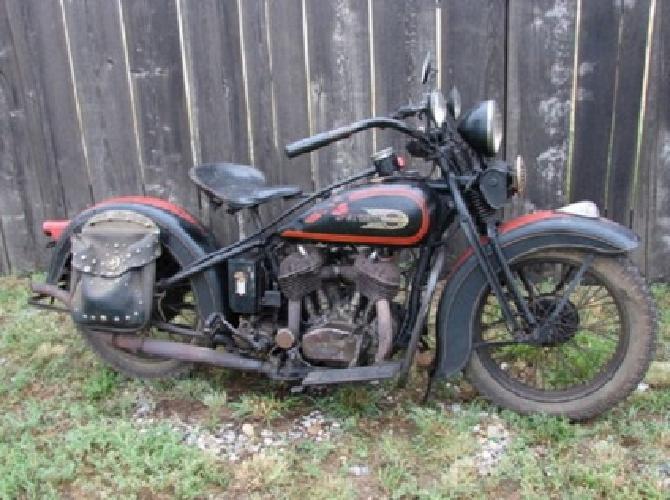1934 Harley Davidson VLD Big Twin Original Paint Vintage Delivery Worldwide