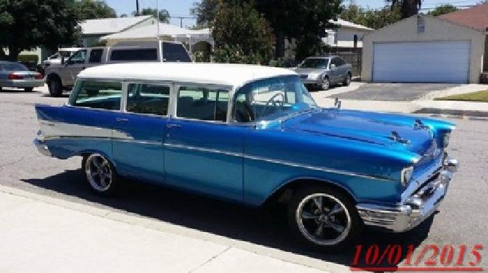 1957 Chevrolet Bel Air/150/210 Wagon Blue and White ??