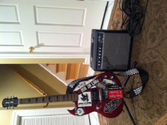$195 OBO Epiphone Electric Guitar & Fender Amp