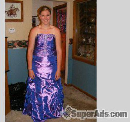 $195 Shiny Purple Prom Dress