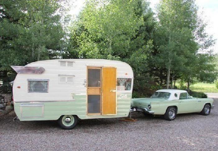1961 Shasta Airflyte vintage travel trailer....cfbc