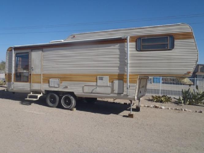 1985 alfa leisure gf28cb fifth wheel best offer for sale