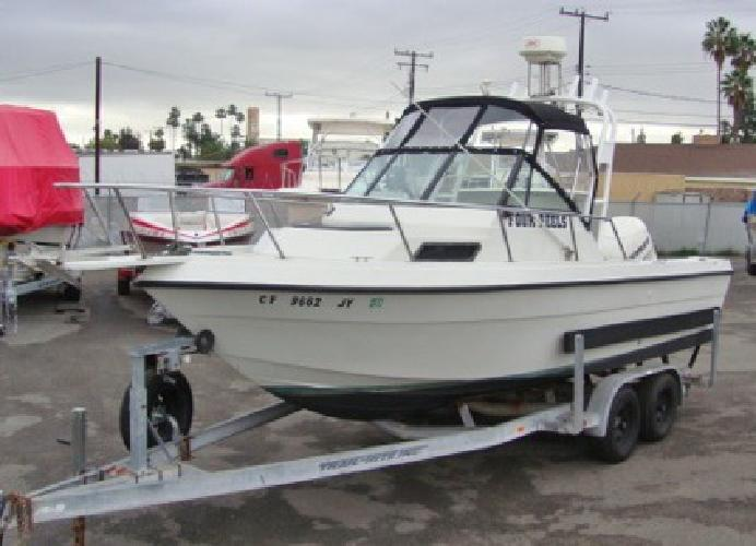 1990 chaparral 224 fisherman walk around cabin used for Used fishing boats for sale in california