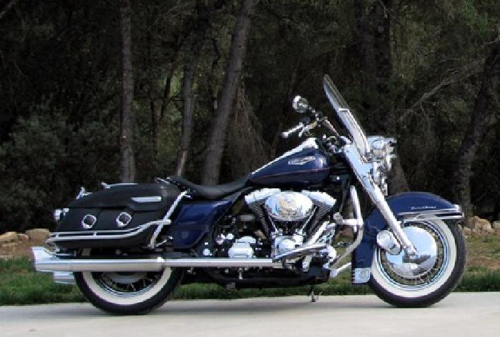 1999 Harley Davidson Touring Road King Classic Blue Nice