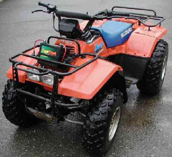 $1,000 1989 Suzuki Quad Runner 250 4x4 Atv Runs Excellent, Looks Rough from Usage But