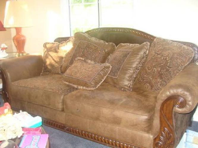 1 000 barely used bradington truffle living room set for sale in