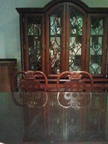 1 000 dining table chairs and china cabinet for sale in for Chinese furniture houston tx
