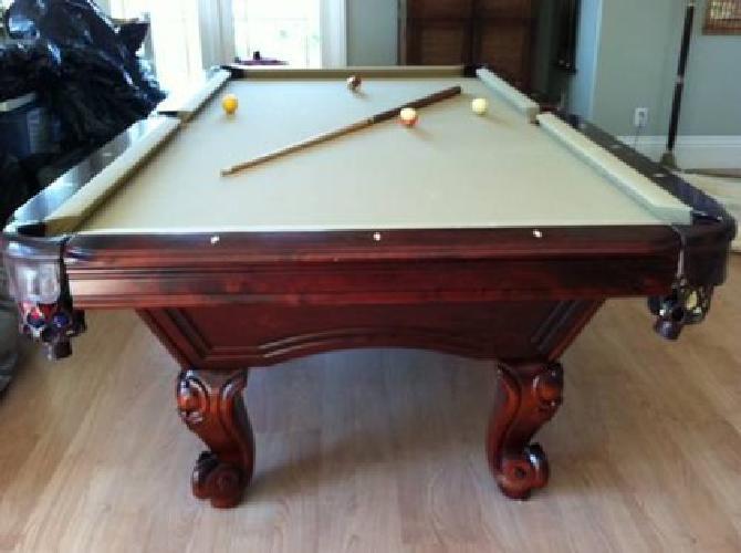 Ordinaire $1,000 Pool Table   Stylish Dark Cherry Legs And Tan Felt