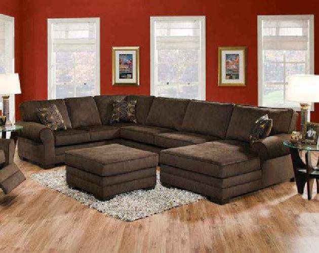 1 098 Deluxe Beluga Brown Three Piece Sectional Is Warm And Cozy With A Cla Shop At For Sale