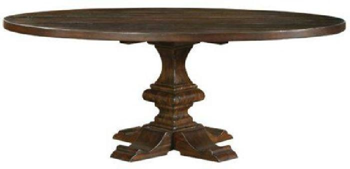 $1,099 Bernhardt Interiors 72 Round Dining Table Distressed (Hickory)