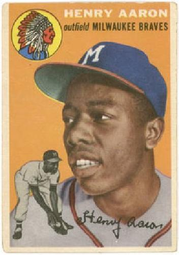 $1,100 1954 Topps #128 Henry Aaron Rookie Card