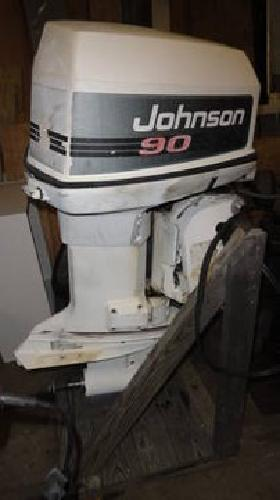 1 100 1991 johnson 90 hp outboard motor with stand for for Large outboard motor stand