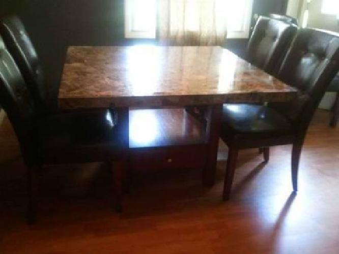 1 100 4ftx4ft Granite Top Dining Table 6 Chairs For Sale In Macomb Il