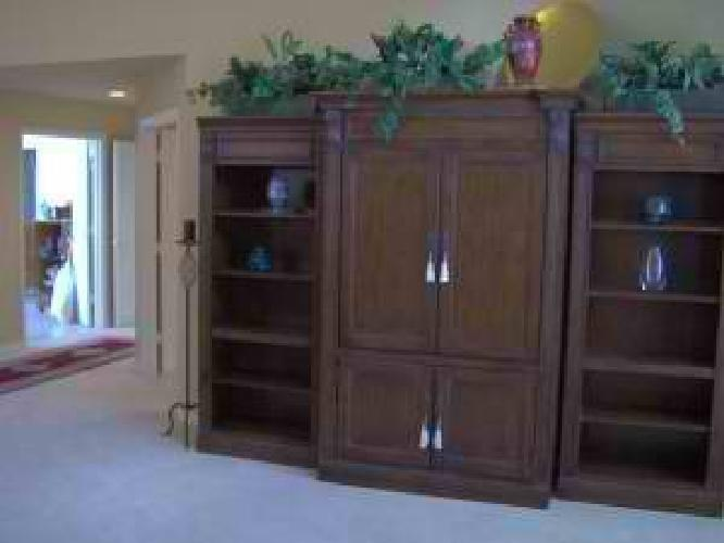 $1,150 3 Piece Solid Wood Entertainment Center