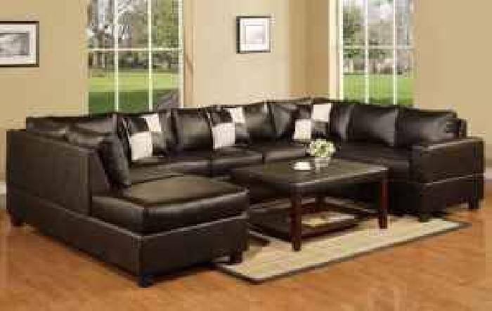 1188 3pc sectional sofa bonded leather for sale in for Sectional sofa atlanta ga